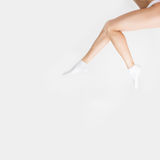 Beautiful long slender female legs after spa Royalty Free Stock Photos