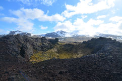 Beautiful Look at Eldborg Volcanic Crater in Iceland Stock Image