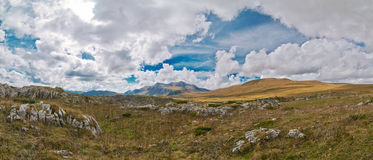 Beautiful look in the fall in the mountains of the Caucasus. Lag. O-Naki's reserve.Panorama Stock Photos