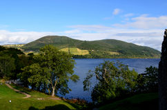 A Beautiful Look at the Rolling Hills Surrounding Loch Ness Royalty Free Stock Images