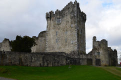 Beautiful Look at Ross Castle in Killarney Ireland. Gorgeous look at stone Ross Castle in Killarney Ireland Stock Photos
