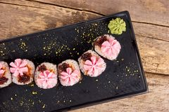 Beautiful looking sushi, sushi as work of art. royalty free stock photos