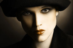 Beautiful looking woman face closeup Royalty Free Stock Photography