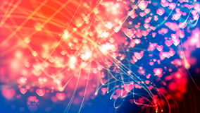 Beautiful loopable background with abstract Flying Hearts stock video