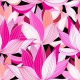 Beautiful lotus flower pattern Royalty Free Stock Photos