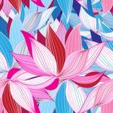 Beautiful lotus flower pattern Stock Images