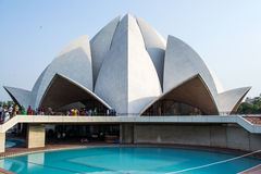 Beautiful Lotus temple in new Delhi. royalty free stock images