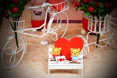 Beautiful love chair in garden Royalty Free Stock Photo