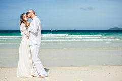 Beautiful love couple on sea Stock Image