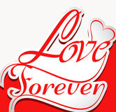 Beautiful Love forever stylish text Stock Image