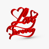 Beautiful love forver artistic 3d text Royalty Free Stock Photo