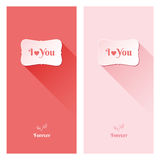 Beautiful love greeting cards. Nice greeting cards for wedding invitation, birthday or other holiday. Simple template with text space for your design. Just Royalty Free Stock Photo
