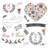 Beautiful love set Royalty Free Stock Image