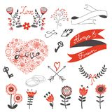 Beautiful love set Stock Image