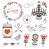 Beautiful love set Royalty Free Stock Image