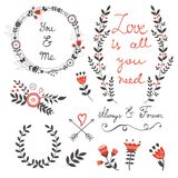 Beautiful love set with Royalty Free Stock Image