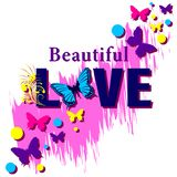 Beautiful Love Shirt Slogan royalty free illustration