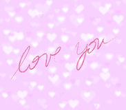 Beautiful love you background Royalty Free Stock Photo