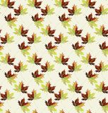 Beautiful lovely graphic artistic abstract bright floral herbal autumn green maple leaves pattern vector illustration Royalty Free Stock Photo