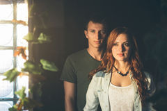 Beautiful lovers Stock Images