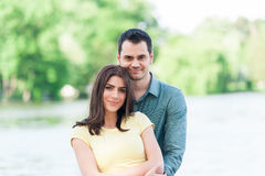 Beautiful loving couple hugging Royalty Free Stock Photo