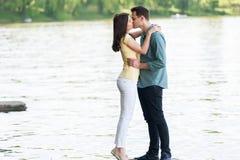 Beautiful loving couple kissing. And having fun Stock Photo