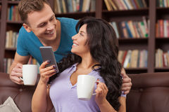 Beautiful loving couple is resting together Royalty Free Stock Photos