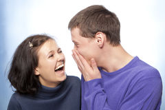 Beautiful loving couple smiling Stock Photos
