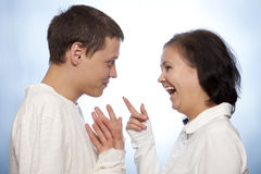 Beautiful loving couple smiling Stock Photography