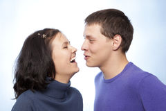 Beautiful loving couple smiling Stock Images