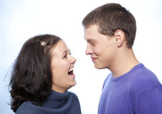Beautiful loving couple smiling Royalty Free Stock Photo