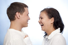 Beautiful loving couple smiling Stock Image