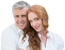 Beautiful loving couple with white background Stock Photography