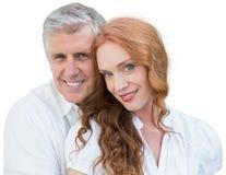 Beautiful loving couple with white background Stock Photography