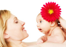 Beautiful loving mother and baby girl Stock Photo