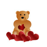 Beautiful loving teddy bear Royalty Free Stock Photos