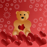 Beautiful loving teddy bear Royalty Free Stock Images