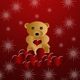 Beautiful loving teddy bear Royalty Free Stock Photography