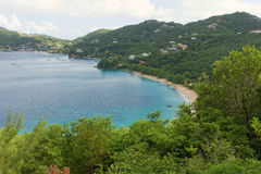 Beautiful lower bay beach on bequia Royalty Free Stock Photos