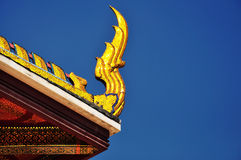 Beautiful lower finial at Thai temple Royalty Free Stock Photo
