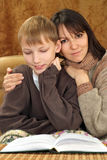 Beautiful luck Caucasian mother with her son Stock Photos