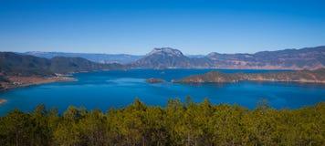 Beautiful lugu lake Stock Photography