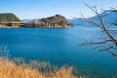 Beautiful lugu lake Stock Photo
