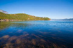 Beautiful Lugu lake Royalty Free Stock Images