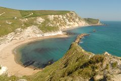Lullworth cove in Dorset stock images