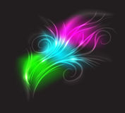 Beautiful luminescence plumelet. Stock Photography