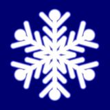 Beautiful luminous snowflake. Royalty Free Stock Photography