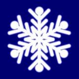 Beautiful luminous snowflake. royalty free illustration