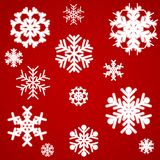 Beautiful luminous snowflakes. Stock Photos