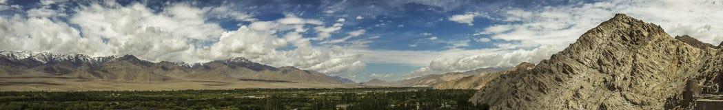 Panchromatic mountain view Stock Photos